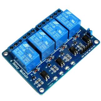 Реле электромагнитное SRD-05VDC-SL-C, 4- канала 5V 10А