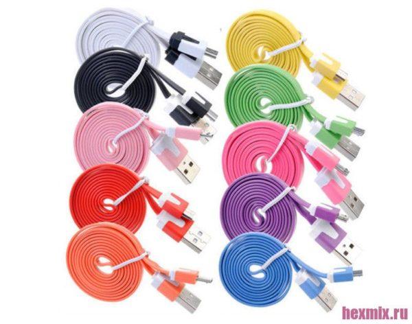 Плоский кабель USB -Micro USB