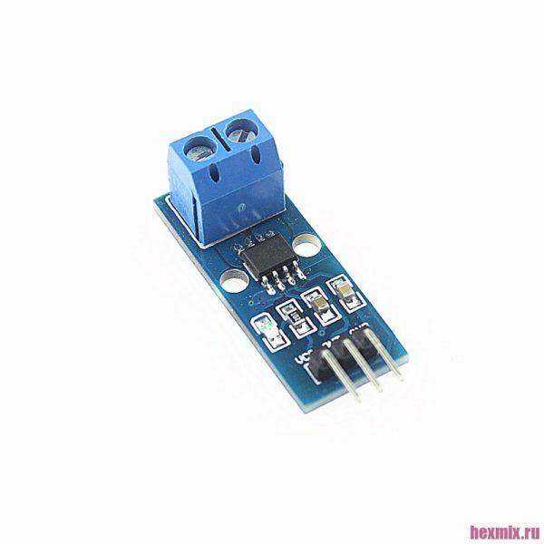 Датчик тока ACS712 20A модуль для arduino