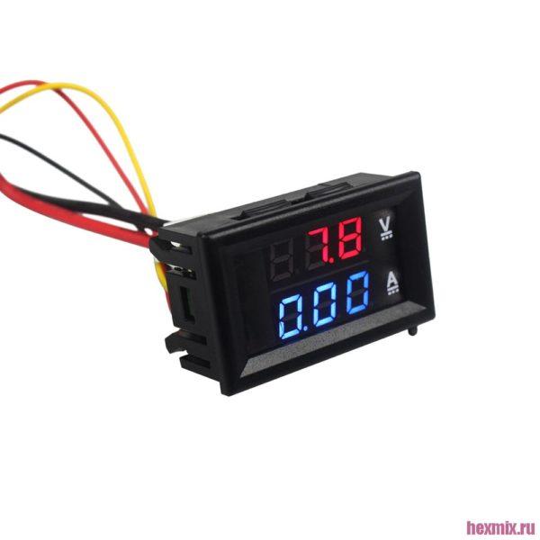 Цифровой вольтметр амперметр DC 100 В 10A