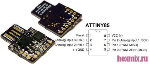 Плата разработчика Digispark ATtiny85