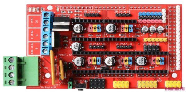 RAMPS 1.4 — материнская плата для 3D — принтеров и ЧПУ — станков