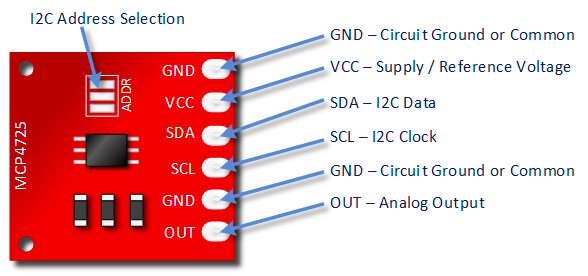 MCP4725 12-битный ЦАП
