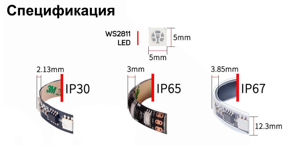 Адресуемая RGB-светодиодная лента Ws2811