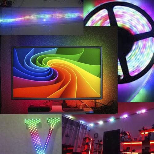 Адресуемая RGB-светодиодная лента Ws2811 12V