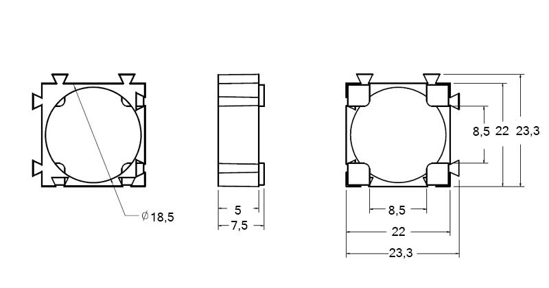 Кронштейн для аккумуляторов 18650