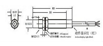 Датчик положения индуктивный LJ12A3-4-Z/BX (CHE12-4NA-A710)
