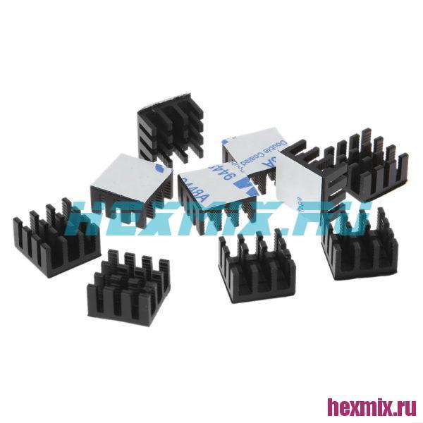 Радиатор алюминий 14x14x8 мм черный