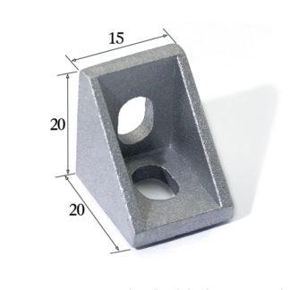 Уголок 1520 для профиля 20x20 мм
