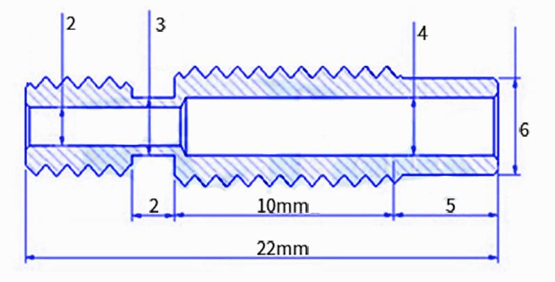 Трубка нагревателя 3d-принтера E3D V6