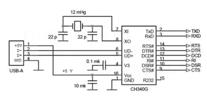 CH340G USB to UART интерфейс SOP-16
