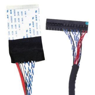 LVDS кабель левый 30pin 8-bit 1-ch FFC V260B1-L01