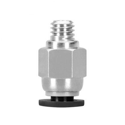 Фитинг PC4-M6 для фторопластовой боуден трубки под пластик 1,75мм
